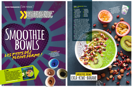 Double page smoothie bowls