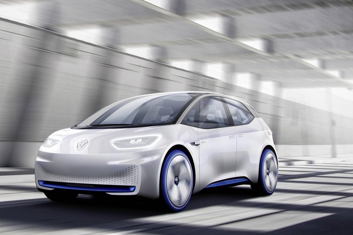 Volkswagen I.D on road